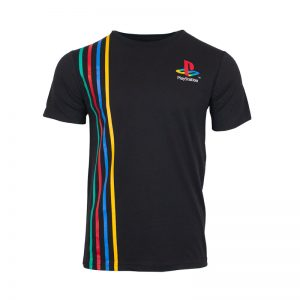 Striped T-Shirt inspired by PlayStation Original Logo