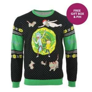 Rick & Morty Portal Christmas Jumper / Ugly Sweater