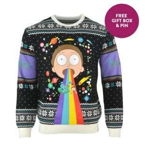 Rick & Morty Rainbow Christmas Jumper / Ugly Sweater