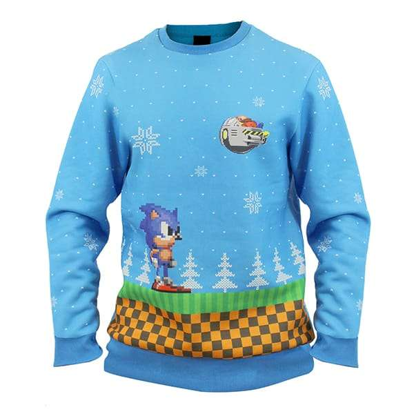 Sonic Green Hill Zone Christmas Jumper / Sweater