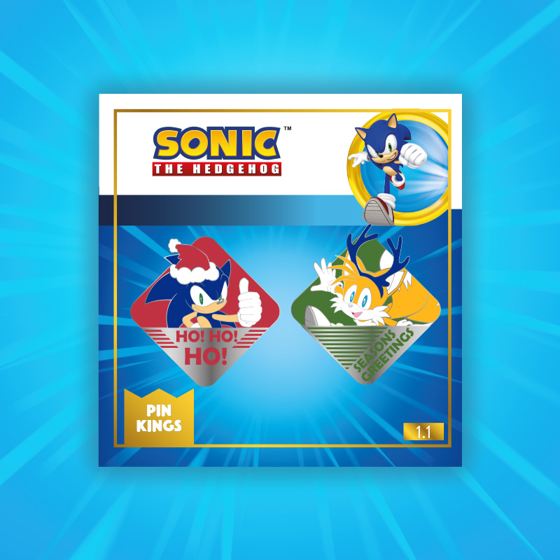 Pin Kings SEGA Modern Sonic The Hedgehog Christmas Enamel Pin Badge Set