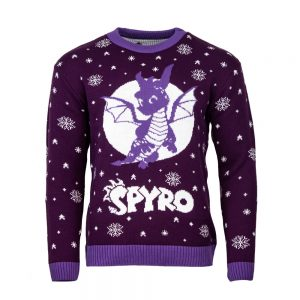 Official Spyro the Dragon Gliding Christmas Jumper / Ugly Sweater