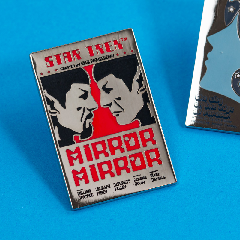 Pin Kings Star Trek Enamel Pin Badge Set 1.1 – Mirror Spock & The City on The Edge