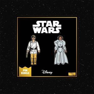 Pin Kings Star Wars Enamel Pin Badge Set 1.1 – Luke Skywalker and Princess Leia