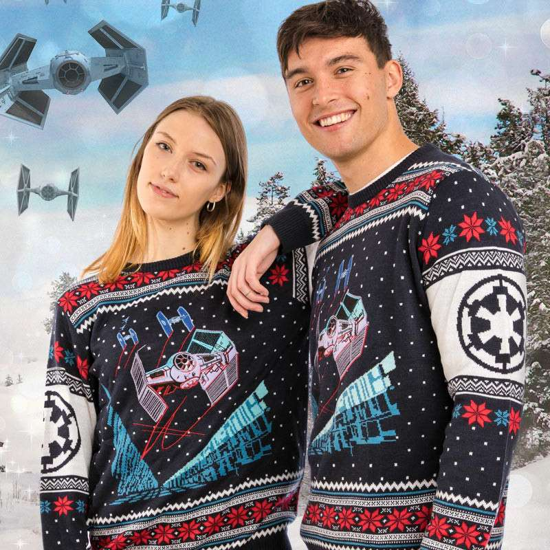 Star Wars Tie Fighter Battle of Yavin Christmas Jumper / Ugly Sweater