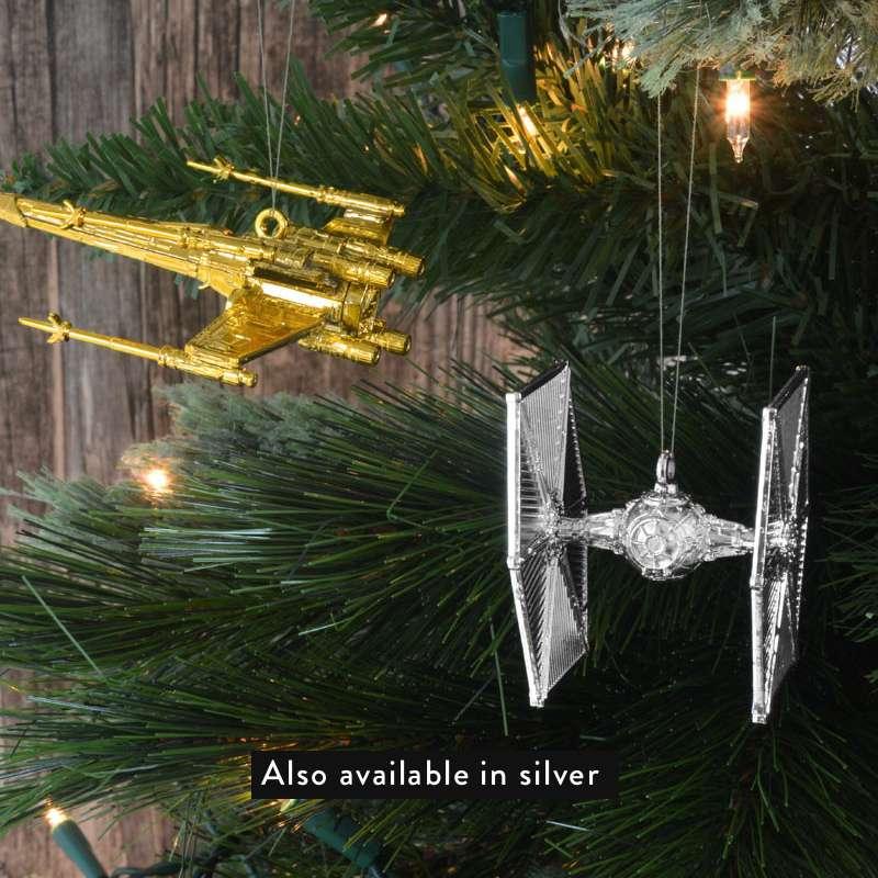 Star Wars Christmas Tree Decorations Ornaments Gold Numskull