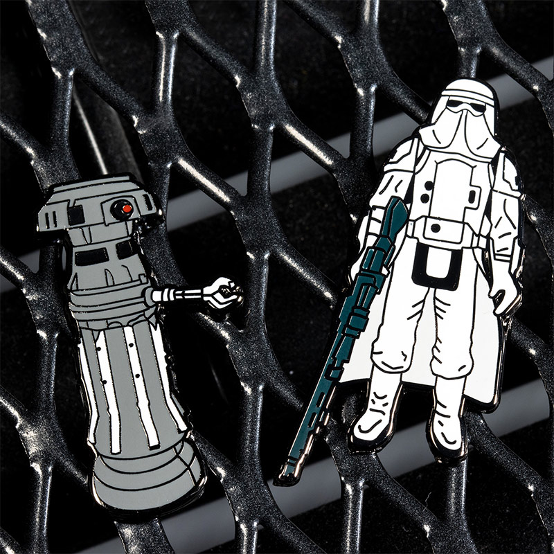 Pin Kings Star Wars Enamel Pin Badge Set 1.12 – FX-7 and Imperial Stormtrooper (Hoth Battle Gear)