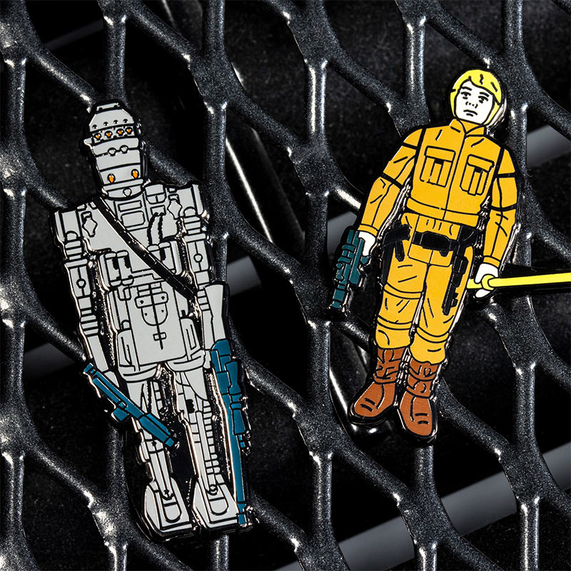 Pin Kings Star Wars Enamel Pin Badge Set 1.14 – IG-88 and Luke Skywalker (Bespin Fatigues)
