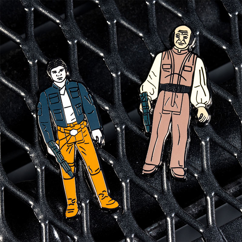 Pin Kings Star Wars Enamel Pin Badge Set 1.18 – Han Solo (Bespin Outfit) and Lobot