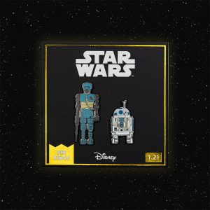 Pin Kings Star Wars Enamel Pin Badge Set 1.21 – 2-1B and R2 D2 (with Sensorscope)