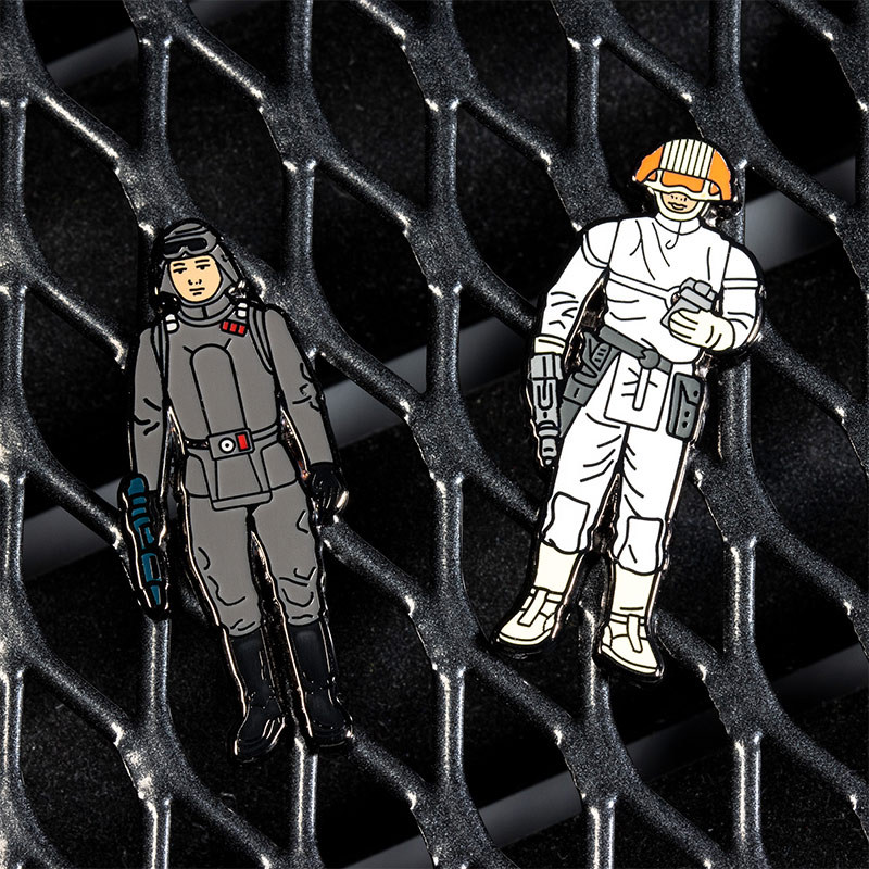 Pin Kings Star Wars Enamel Pin Badge Set 1.23 – AT-AT Commander and Cloud Car Pilot