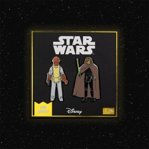 Pin Kings Star Wars Enamel Pin Badge Set 1.26 – Admiral Ackbar and Luke Skywalker (Jedi Knight Outfit)
