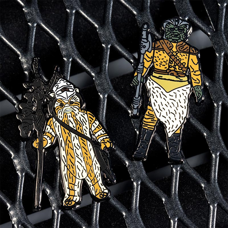 Pin Kings Star Wars Enamel Pin Badge Set 1.29 – Logray (Ewok Medicine Man) and Klaatu