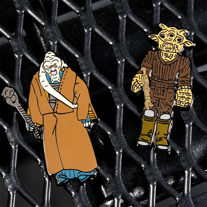 Pin Kings Star Wars Enamel Pin Badge Set 1.32 – Bib Fortuna and Ree-Yees
