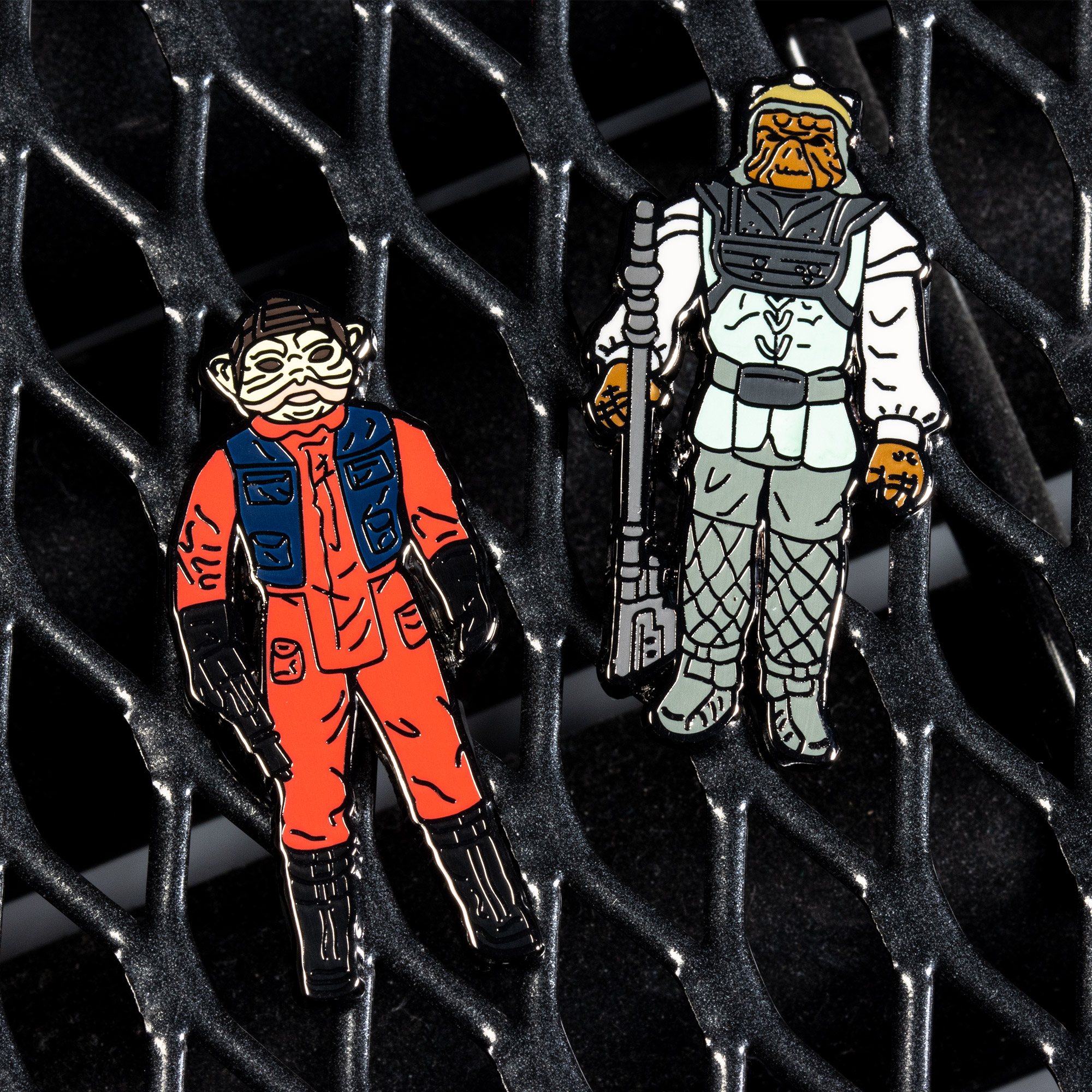 Pin Kings Star Wars Enamel Pin Badge Set 1.34 – Nien Nunb and Nikto