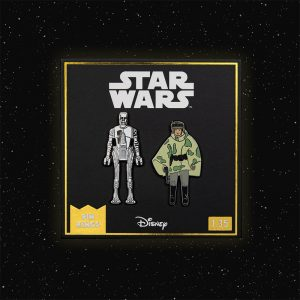 Pin Kings Star Wars Enamel Pin Badge Set 1.35 – 8D8 and Princess Leia Organa (in Combat Poncho)