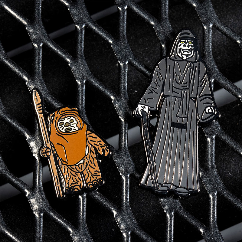 Pin Kings Star Wars Enamel Pin Badge Set 1.36 – Wicket W. Warrick and The Emperor
