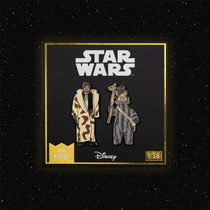Pin Kings Star Wars Enamel Pin Badge Set 1.38 – Han Solo (in Trench Coat) and Teebo