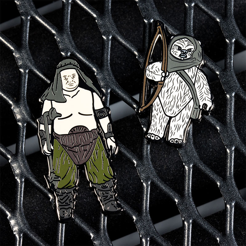 Pin Kings Star Wars Enamel Pin Badge Set 1.40 – Rancor Keeper and Lumat