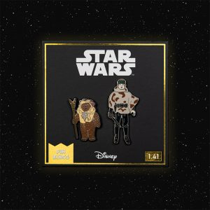 Pin Kings Star Wars Enamel Pin Badge Set 1.41 – Paploo and Luke Skywalker (in Battle Poncho)