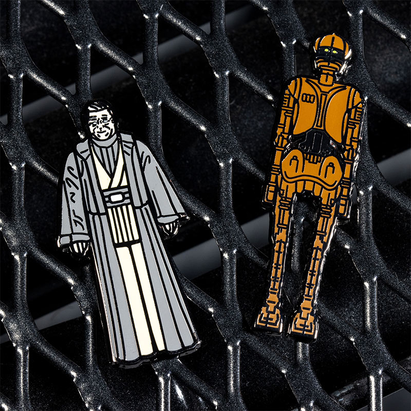 Pin Kings Star Wars Enamel Pin Badge Set 1.46 – Old Anakin Skywalker and EV-9D9