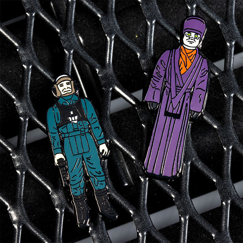 Pin Kings Star Wars Enamel Pin Badge Set 1.48 – A-Wing Pilot and Imperial Dignitary