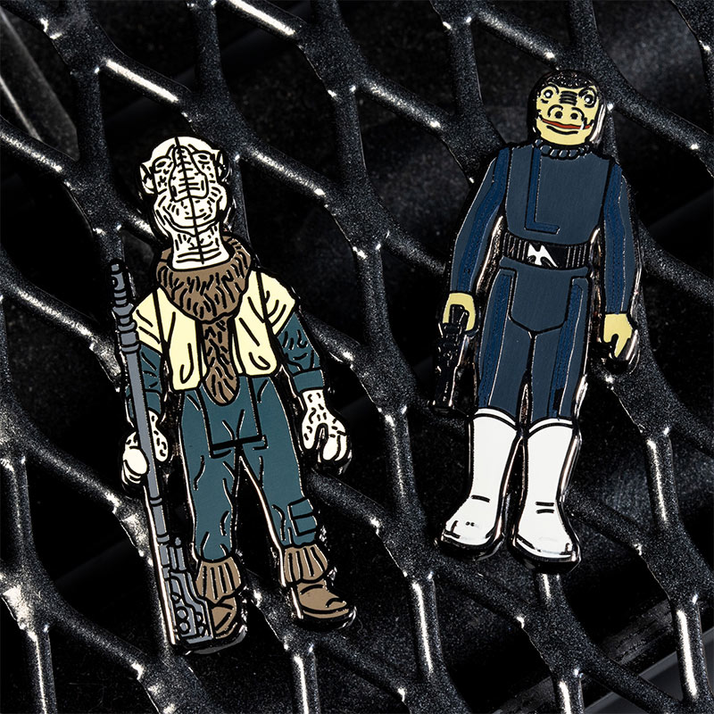 Pin Kings Star Wars Enamel Pin Badge Set 1.49 – Yak Face and Snaggletooth (Variant)
