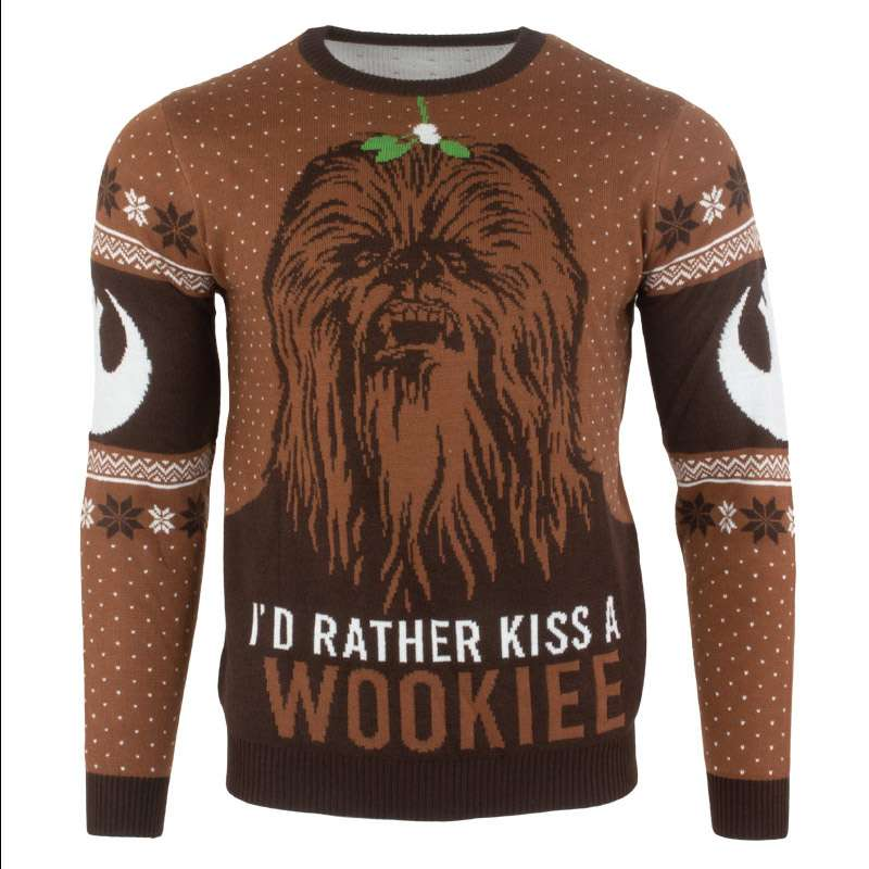 Star Wars Kiss a Wookiee Christmas Jumpers / Ugly Sweater - Numskull