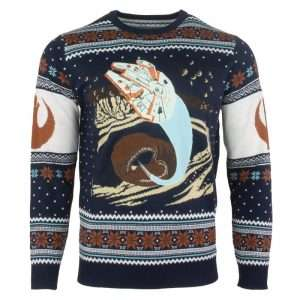 Star Wars Millennium Falcon Space Slug Escape Christmas Jumper / Ugly Sweater
