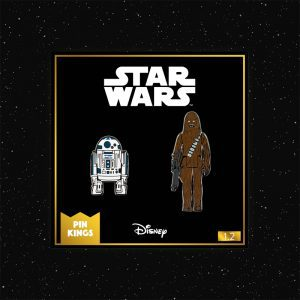 Pin Kings Star Wars Enamel Pin Badge Set 1.2 – R2D2 and Chewbacca