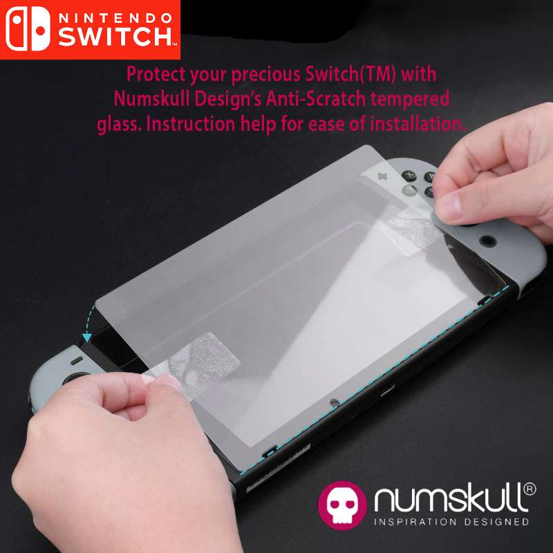 Numskull Nintendo Switch Premium Tempered Glass Screen Protector (Twin Pack)