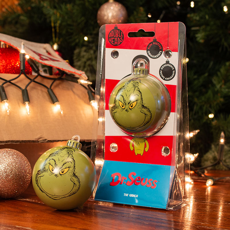 Bauble Heads The Grinch Christmas Decoration / Ornament