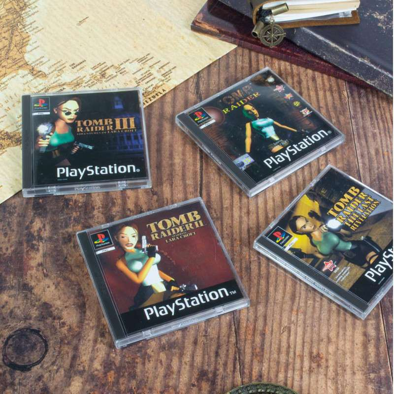 Tomb Raider PS1 Coasters
