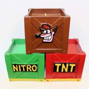 Crash Bandicoot Scented Candle Triple Pack