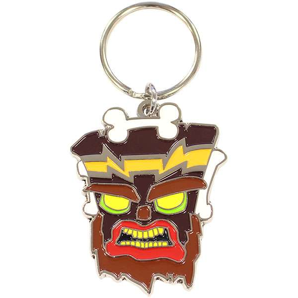 Crash Bandicoot Uka Uka Keychain