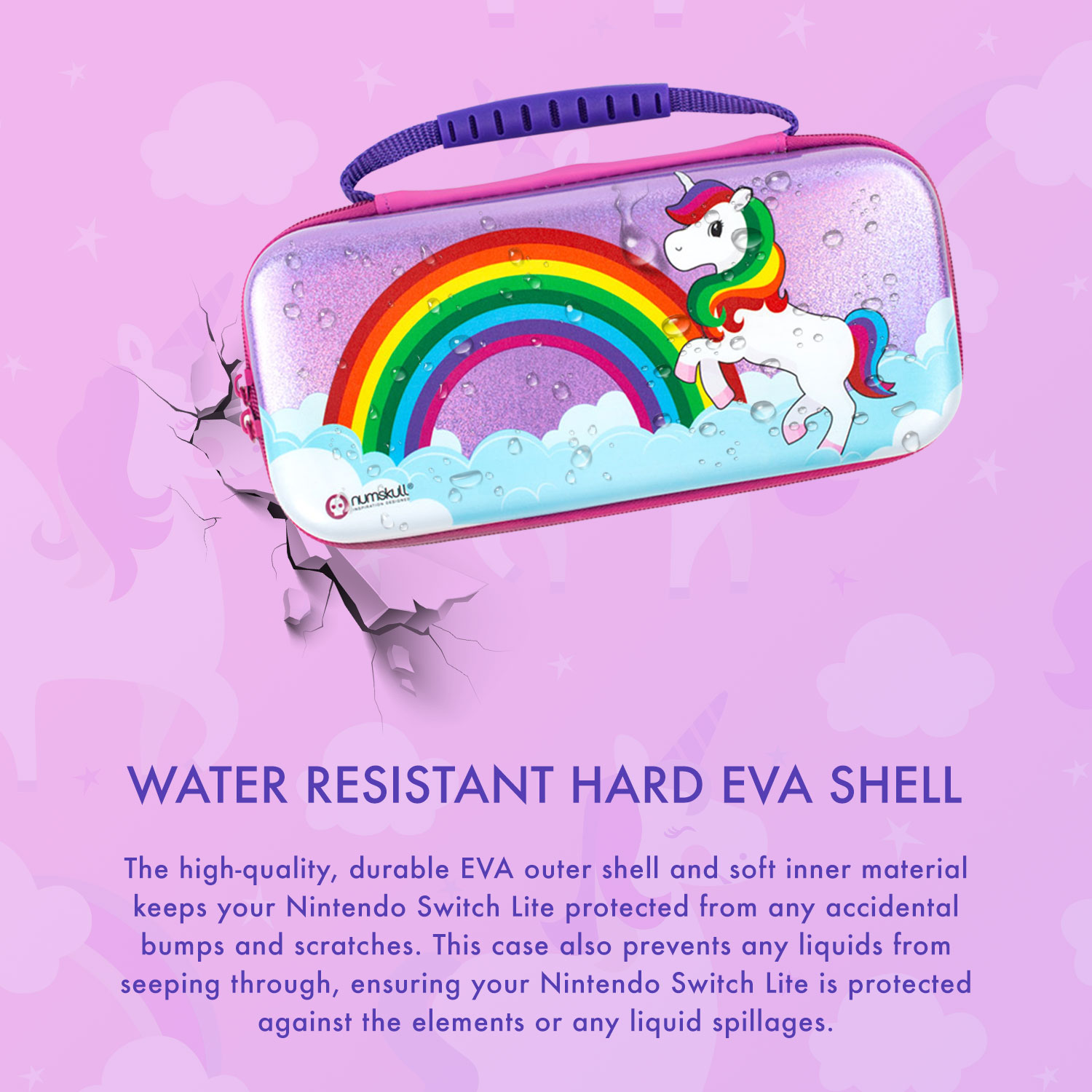 Numskull Nintendo Switch Lite Unicorn Case (New 2020 Design)