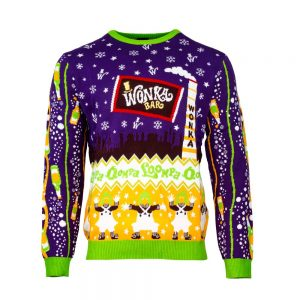 Official Willy Wonka and The Chocolate Factory Christmas Jumper / Ugly Sweater