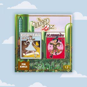 Pin Kings Wizard of Oz Enamel Pin Badge Set 1.2 – Scarecrow & Dorothy