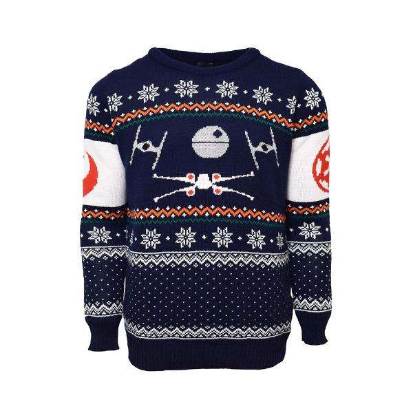 tie fighter vs x wing christmas jumper sweater numskull. Black Bedroom Furniture Sets. Home Design Ideas