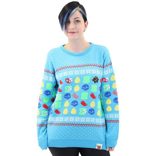 candy crush christmas jumper sweater numskull
