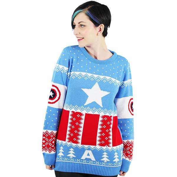 Captain America Christmas Jumper / Sweater