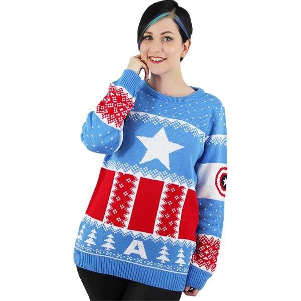 Captain America Christmas Jumper / Sweater - Numskull