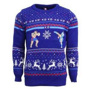 Street Fighter Sagat Vs. Chun Li Christmas Jumper / Sweater