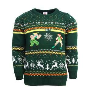 Street Fighter Guile Vs. Cammy Christmas Jumper / Sweater
