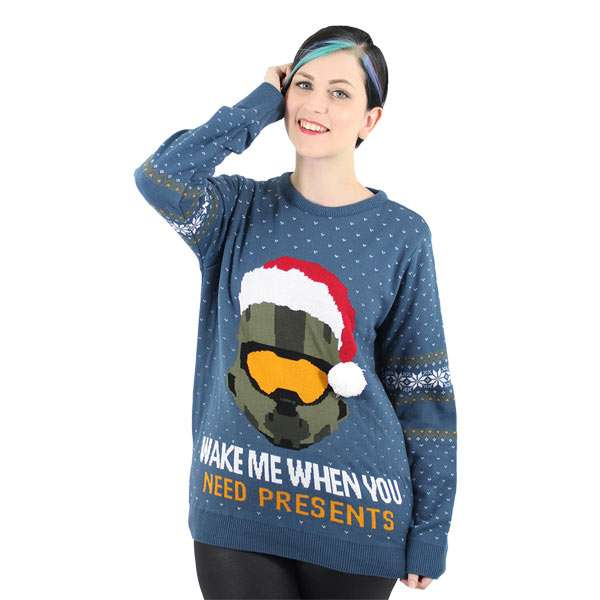 Halo Christmas Sweater.Halo Christmas Jumper Ugly Sweater Numskull