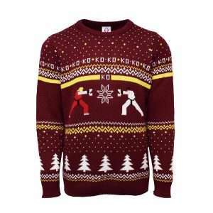 Street Fighter Ken Vs. Ryu Christmas Jumper / Ugly Sweater