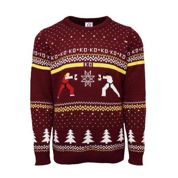 Street Fighter Ken Vs. Ryu Christmas Jumper / Sweater