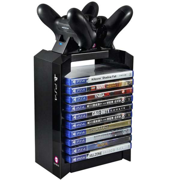 Official Playstation PS4 Games Tower & Dual Charger