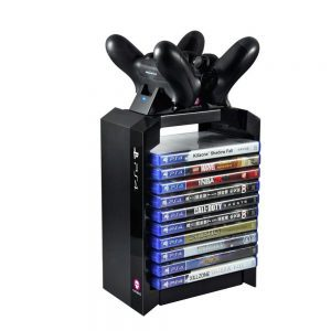 PlayStation 4 / PS4 Games Tower & Dual Charger