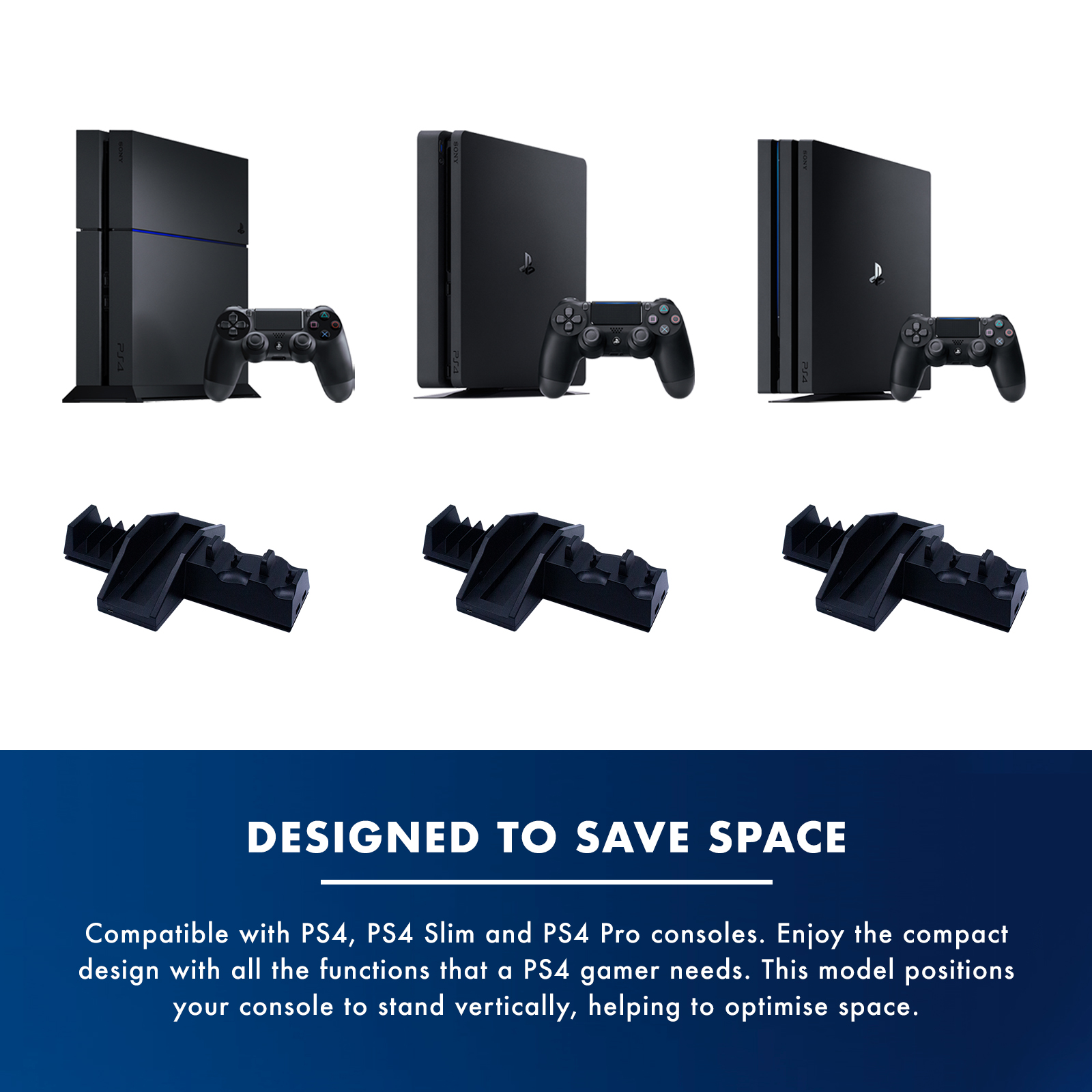 Numskull PlayStation 4 / PS4 5 in 1 Vertical Stand